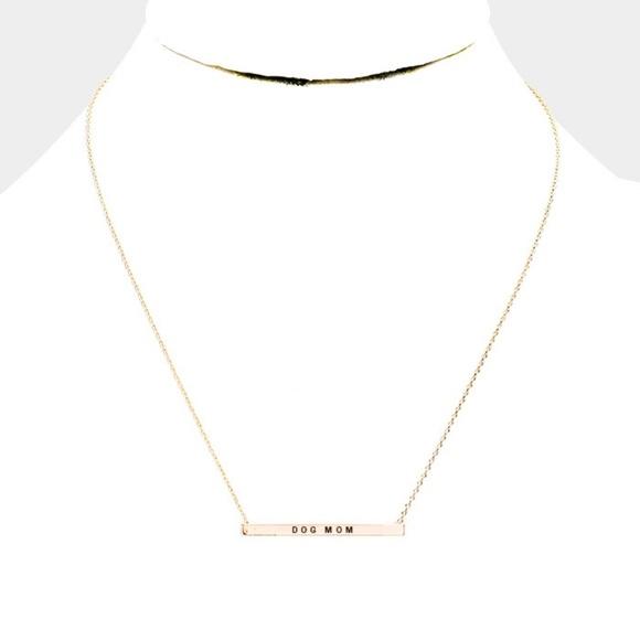 Jewelry - Dog Mom Necklace (Gold)
